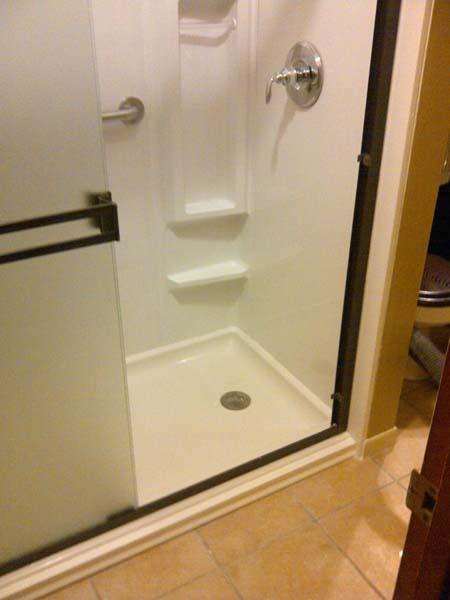 walk in shower u2013 30x60x72 acrylic shower pan u0026 3 wall surround shower bench
