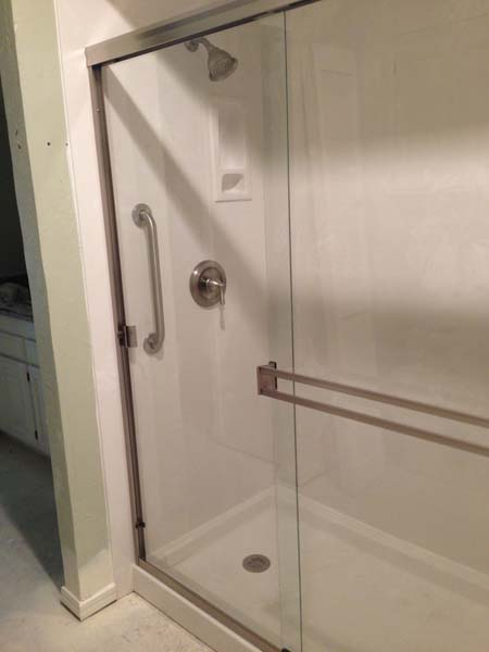 Walk In Shower | 32x60x72 Marble Shower Pan & 3 Wall Surround ...