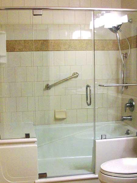 Wonderful Notch Cut E\Z Step Tub To Shower Conversion